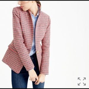 J crew regent blazer in houndstooth plaid